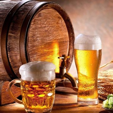 пиво разливное и в бутылках